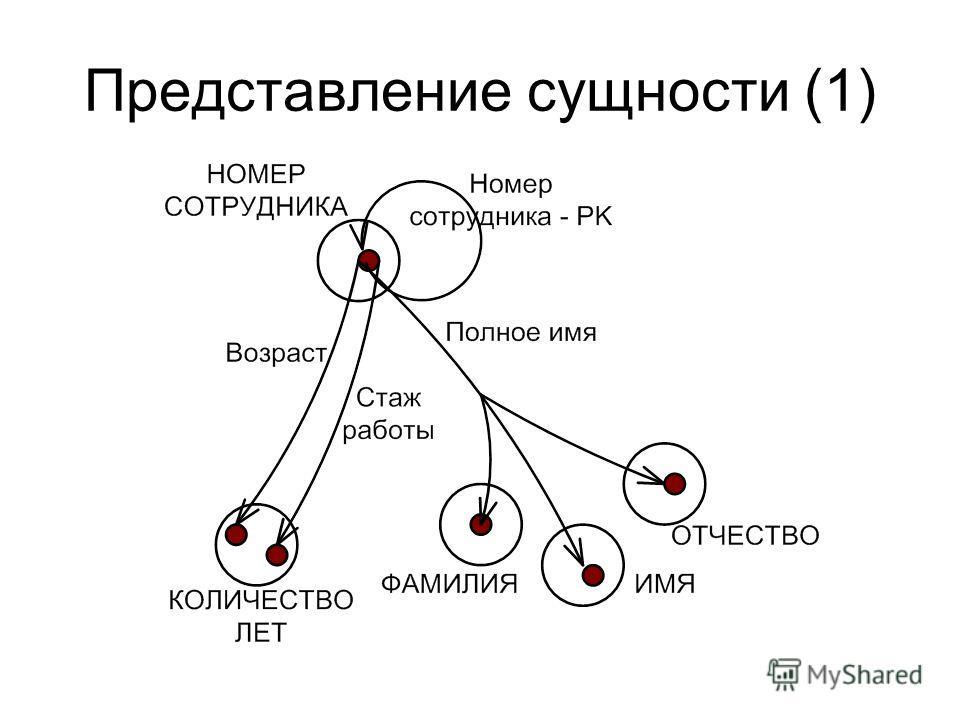 Представление сущности (1)