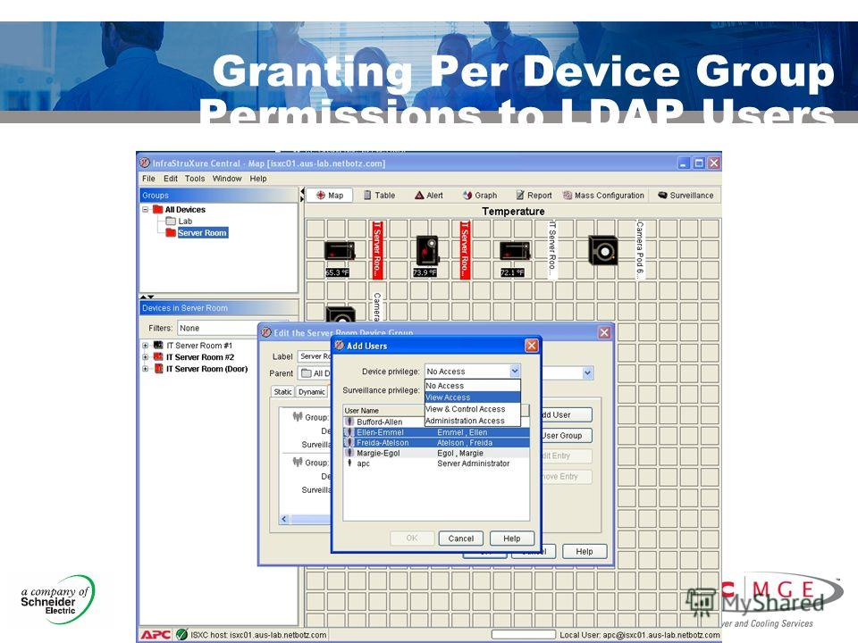 © 2007 APC-MGE corporation. Granting Per Device Group Permissions to LDAP Users
