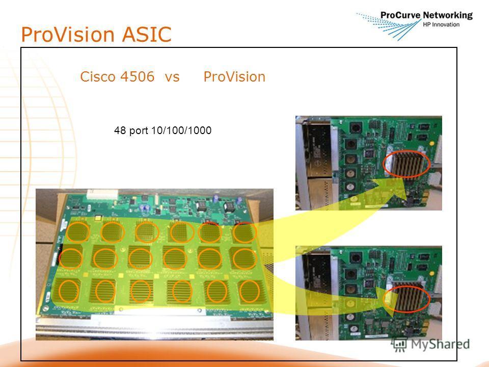 ProVision ASIC Cisco 4506 vs ProVision 48 port 10/100/1000