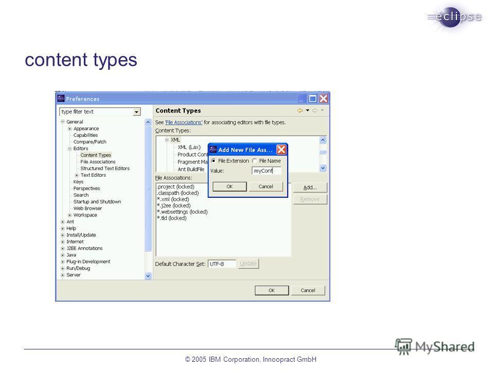 © 2005 IBM Corporation, Innoopract GmbH content types