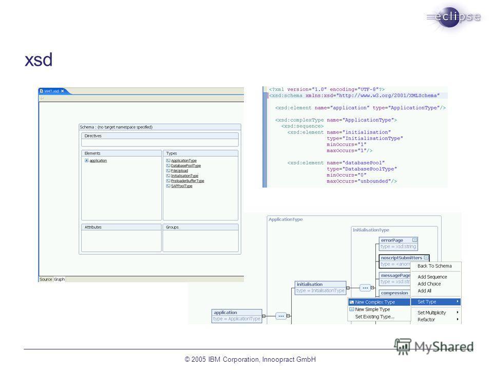 © 2005 IBM Corporation, Innoopract GmbH xsd