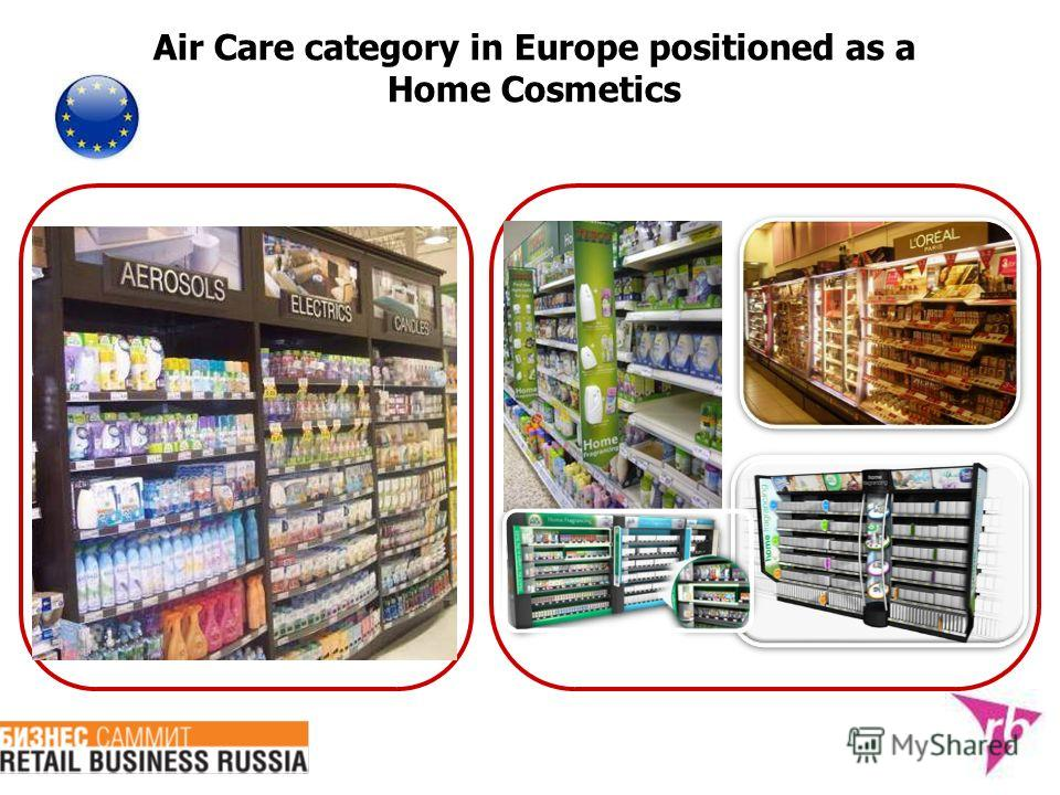 Air Care category in Europe positioned as a Home Cosmetics
