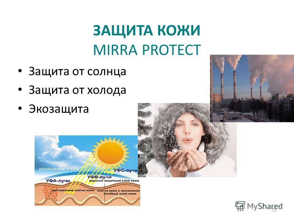ЗАЩИТА КОЖИ MIRRA PROTECT Защита от солнца Защита от холода Экозащита 75