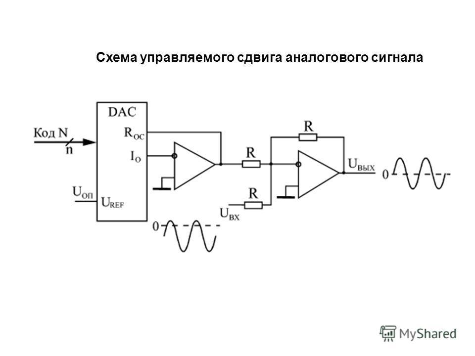 Схема управляемого сдвига аналогового сигнала