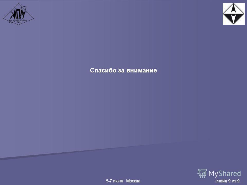 Спасибо за внимание 5-7 июня Москва слайд 9 из 9