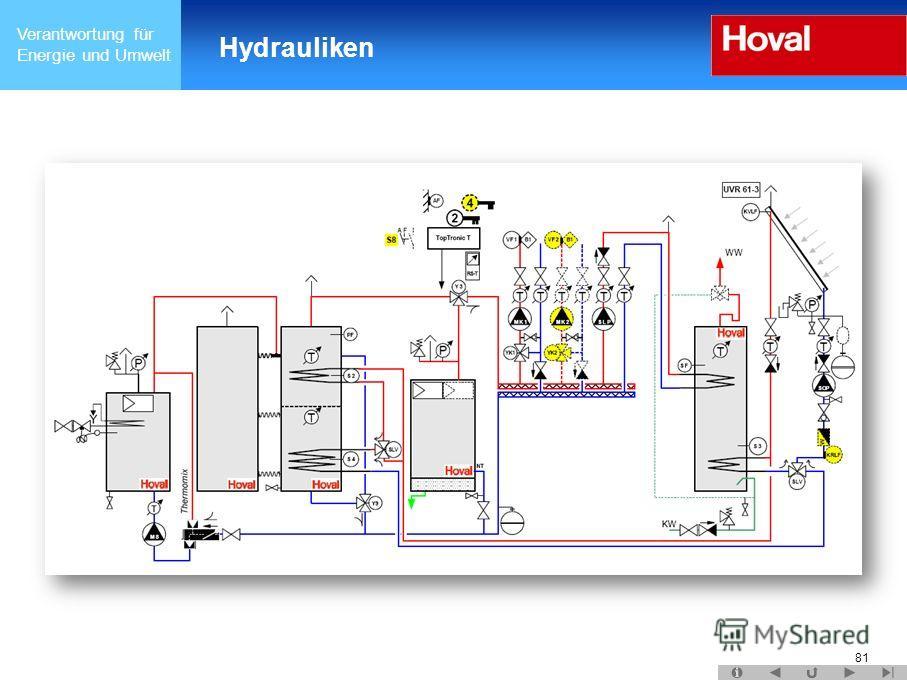 Verantwortung für Energie und Umwelt Hydrauliken 81
