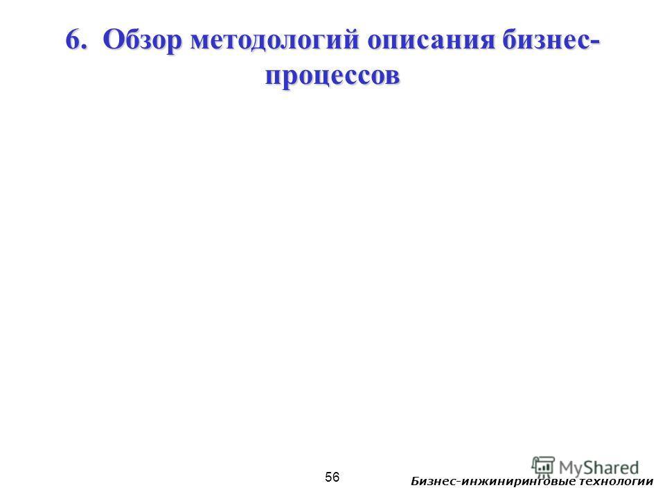 Бизнес-инжиниринговые технологии 56 6. Обзор методологий описания бизнес- процессов