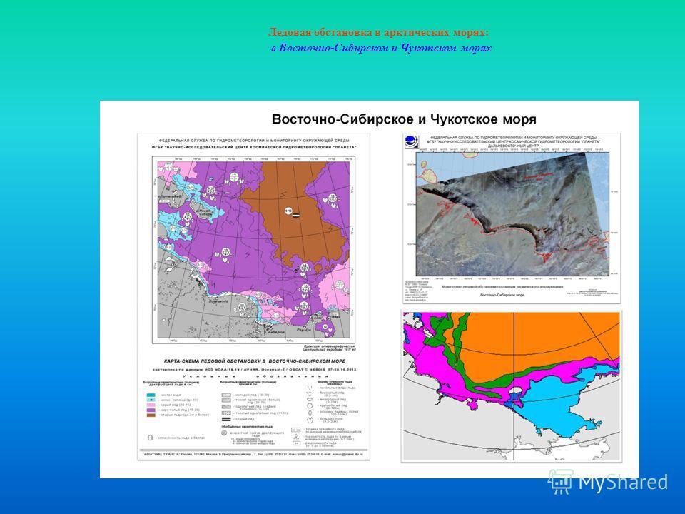 Ледовая обстановка в арктических морях: в Восточно-Сибирском и Чукотском морях