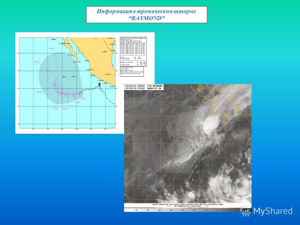 Информация о тропическом шторме RAYMOND