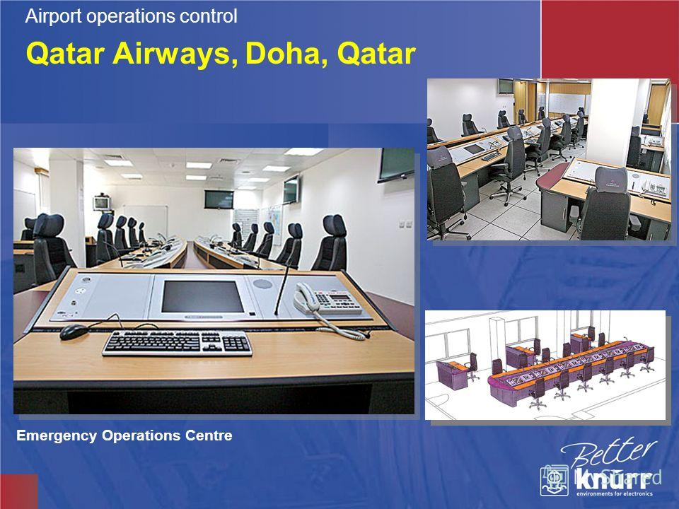 Qatar Airways, Doha, Qatar Emergency Operations Centre Airport operations control