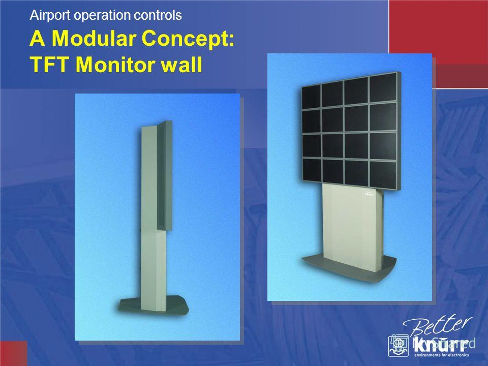 A Modular Concept: TFT Monitor wall Airport operation controls