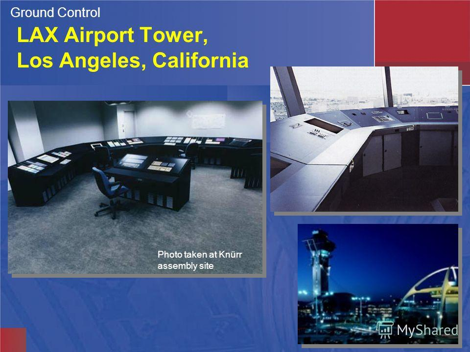 Photo taken at Knürr assembly site LAX Airport Tower, Los Angeles, California Ground Control