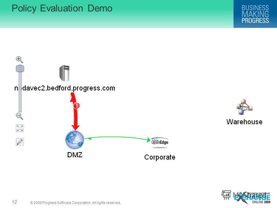 © 2009 Progress Software Corporation. All rights reserved. Policy Evaluation Demo 12