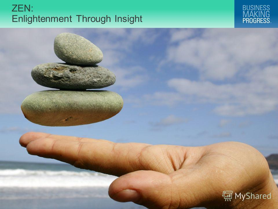 © 2009 Progress Software Corporation. All rights reserved. ZEN: Enlightenment Through Insight 2