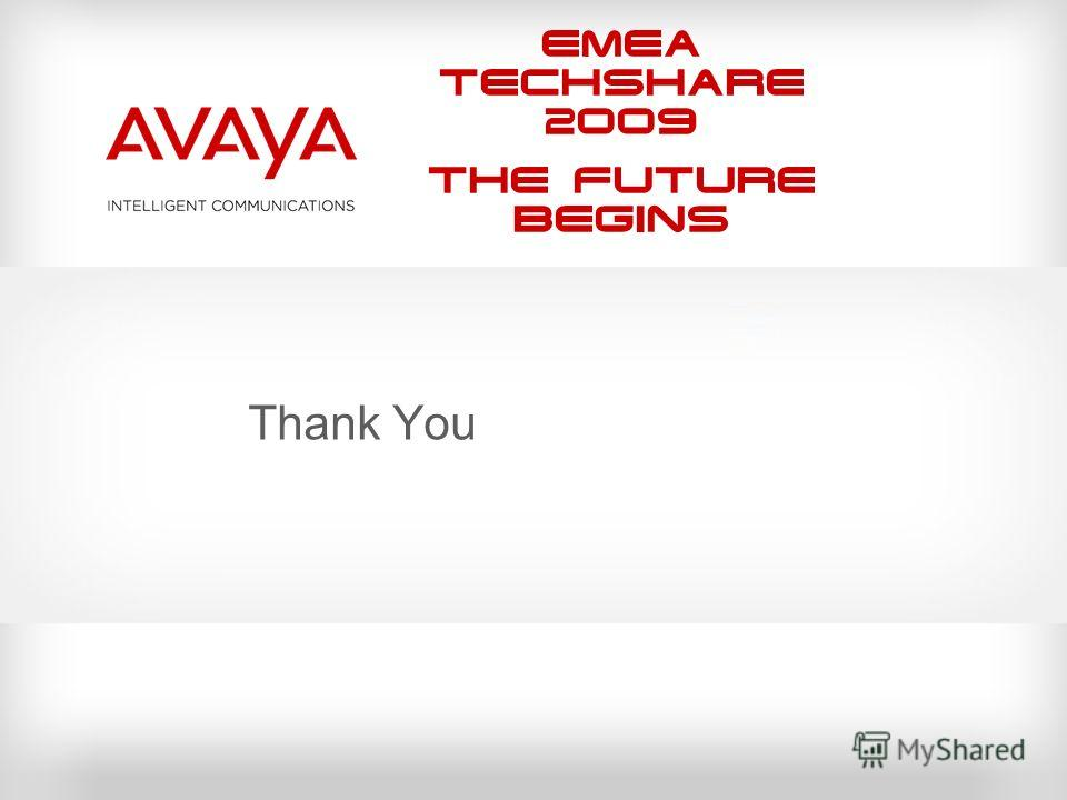 EMEA Techshare 2009 The Future Begins Thank You