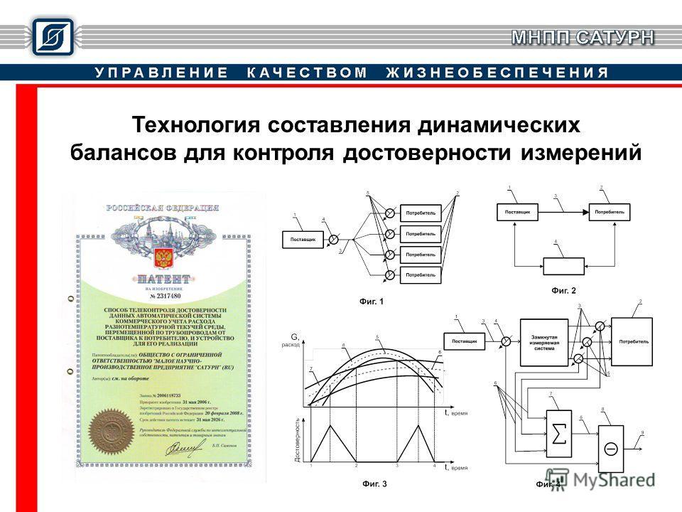 Технология составления динамических балансов для контроля достоверности измерений