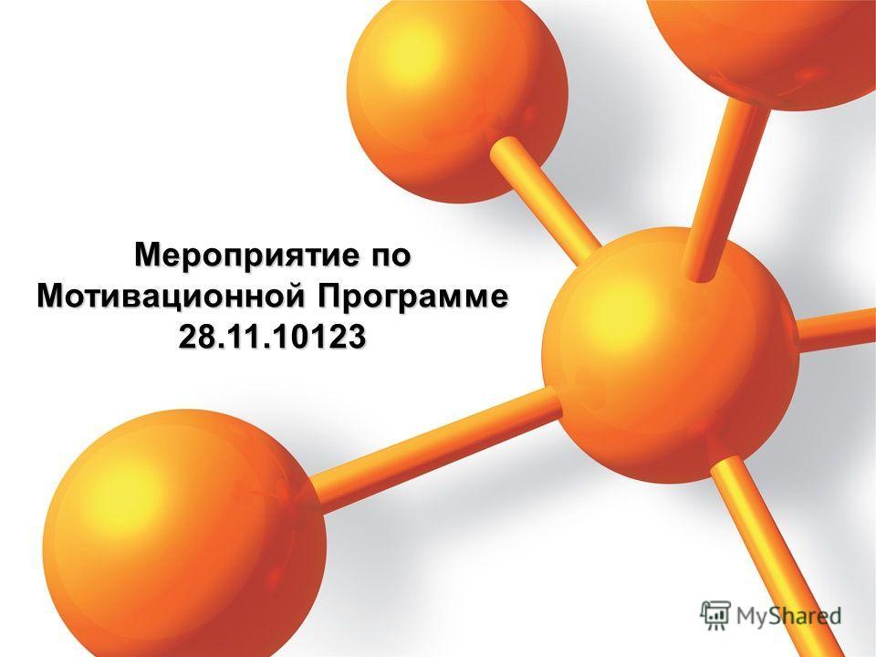 Мероприятие по Мотивационной Программе 28.11.10123