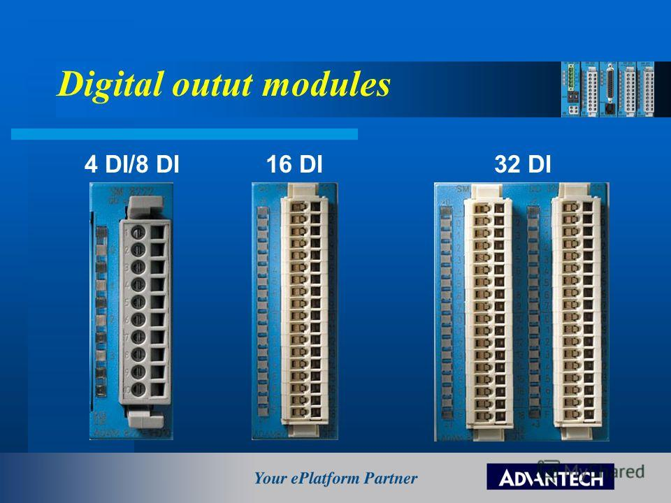 Digital outut modules 4 DI/8 DI 16 DI 32 DI
