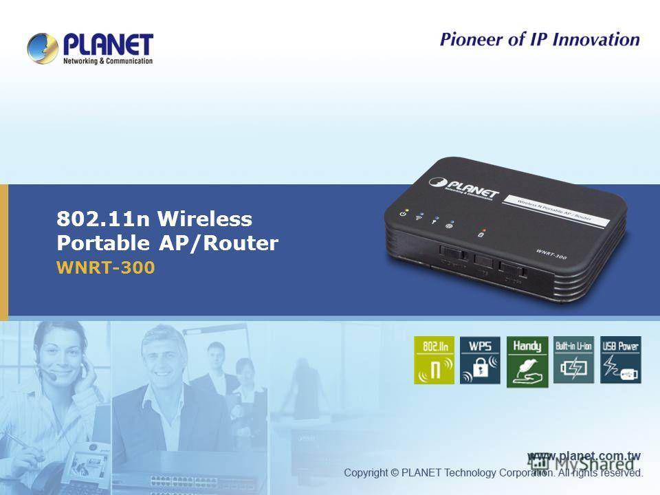 802.11n Wireless Portable AP/Router WNRT-300