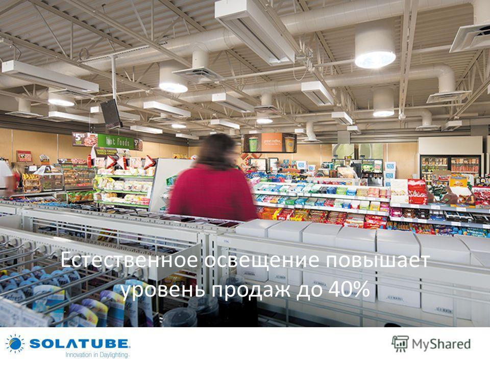 Естественное освещение повышает уровень продаж до 40%