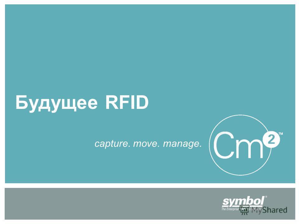 Будущее RFID capture. move. manage.