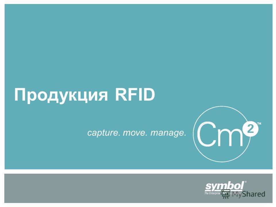 Продукция RFID capture. move. manage.
