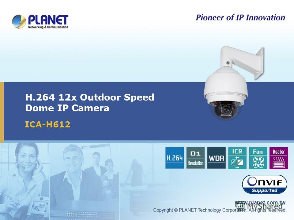 H.264 12x Outdoor Speed Dome IP Camera ICA-H612