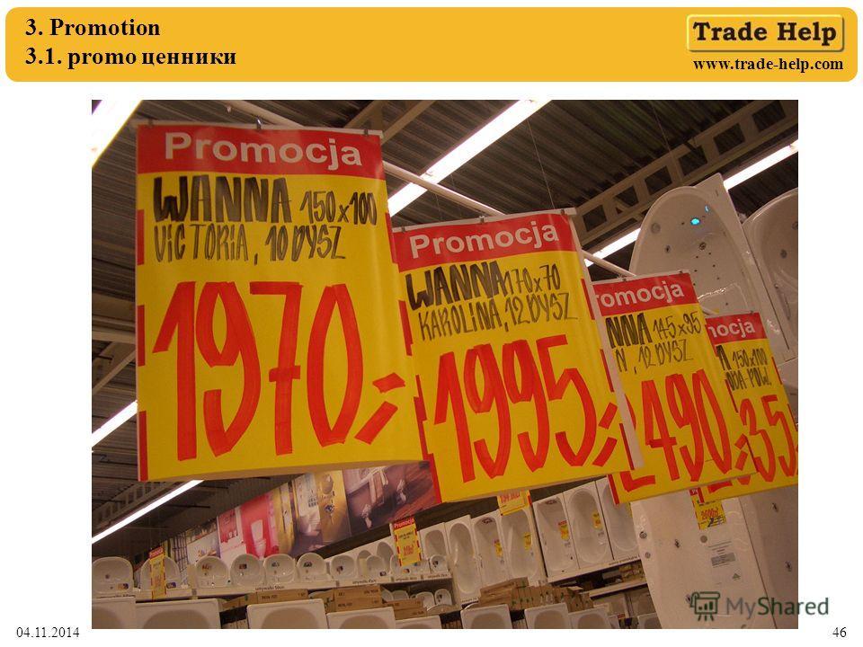 www.trade-help.com 04.11.201446 3. Promotion 3.1. promo ценники