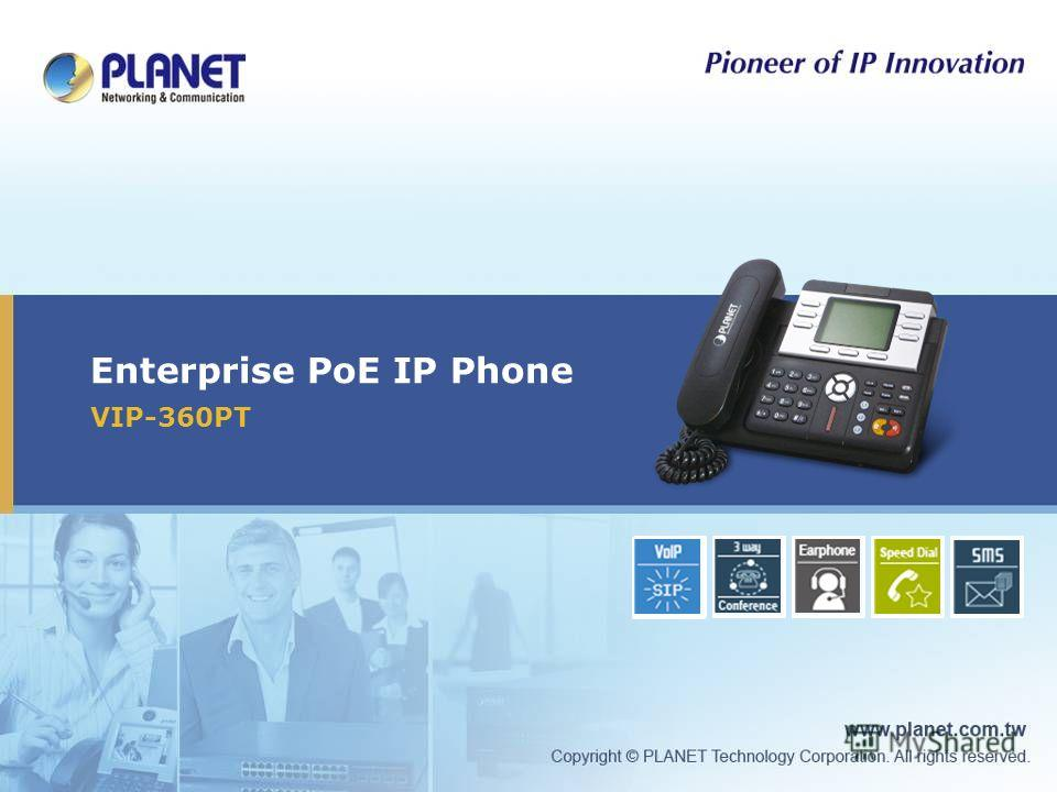 Enterprise PoE IP Phone VIP-360PT Icon5Icon4Icon3Icon2Icon1Icon5Icon4Icon3Icon2 Icon1