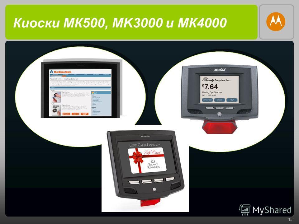 13 Киоски МК500, MK3000 и МК4000