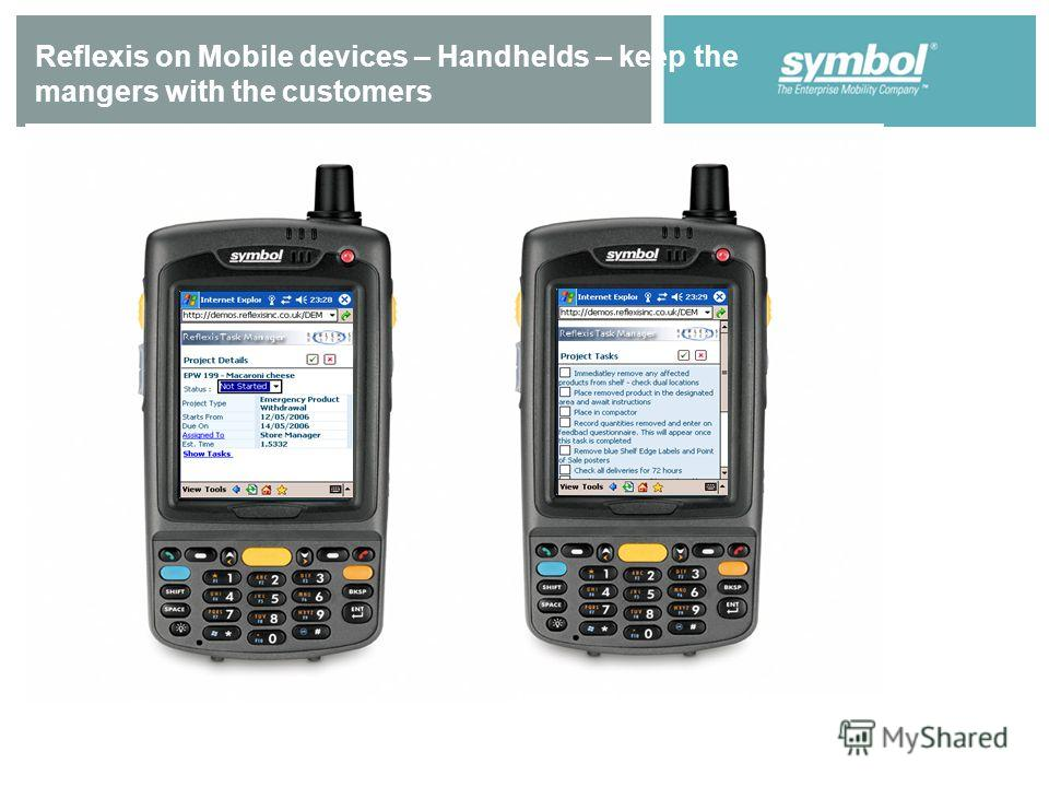 Reflexis on Mobile devices – Handhelds – keep the mangers with the customers