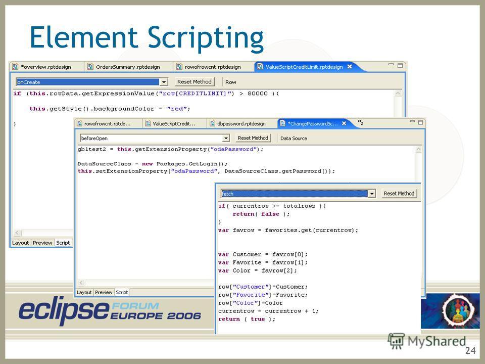 24 Element Scripting