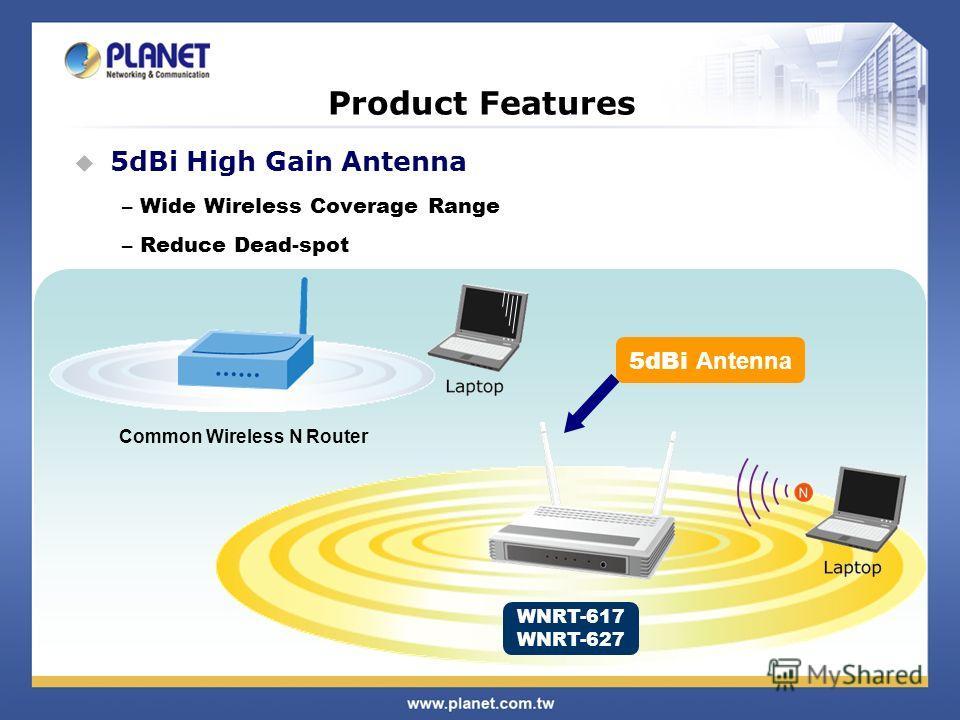 5dBi High Gain Antenna – Wide Wireless Coverage Range – Reduce Dead-spot Common Wireless N Router WNRT-617 WNRT-627 5dBi Antenna