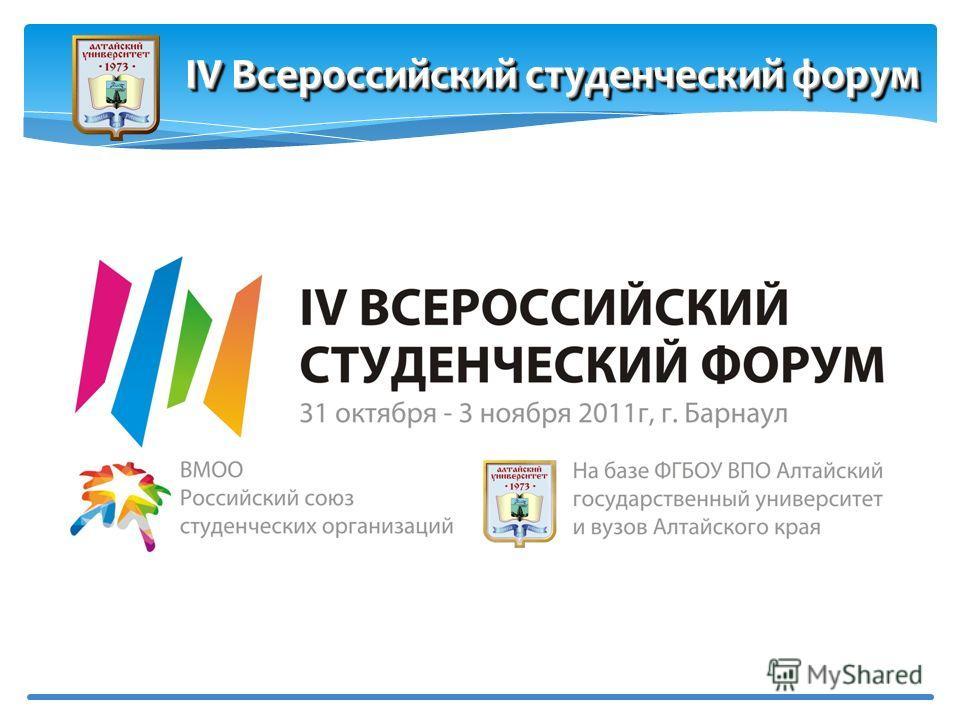 IV Всероссийский студенческий форум