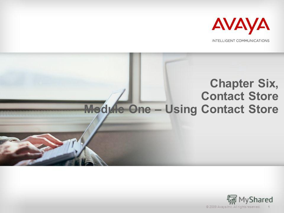 © 2009 Avaya Inc. All rights reserved.1 Chapter Six, Contact Store Module One – Using Contact Store