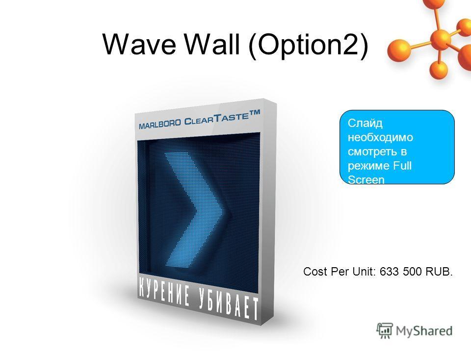 Wave Wall (Option2) Слайд необходимо смотреть в режиме Full Screen Cost Per Unit: 633 500 RUB.
