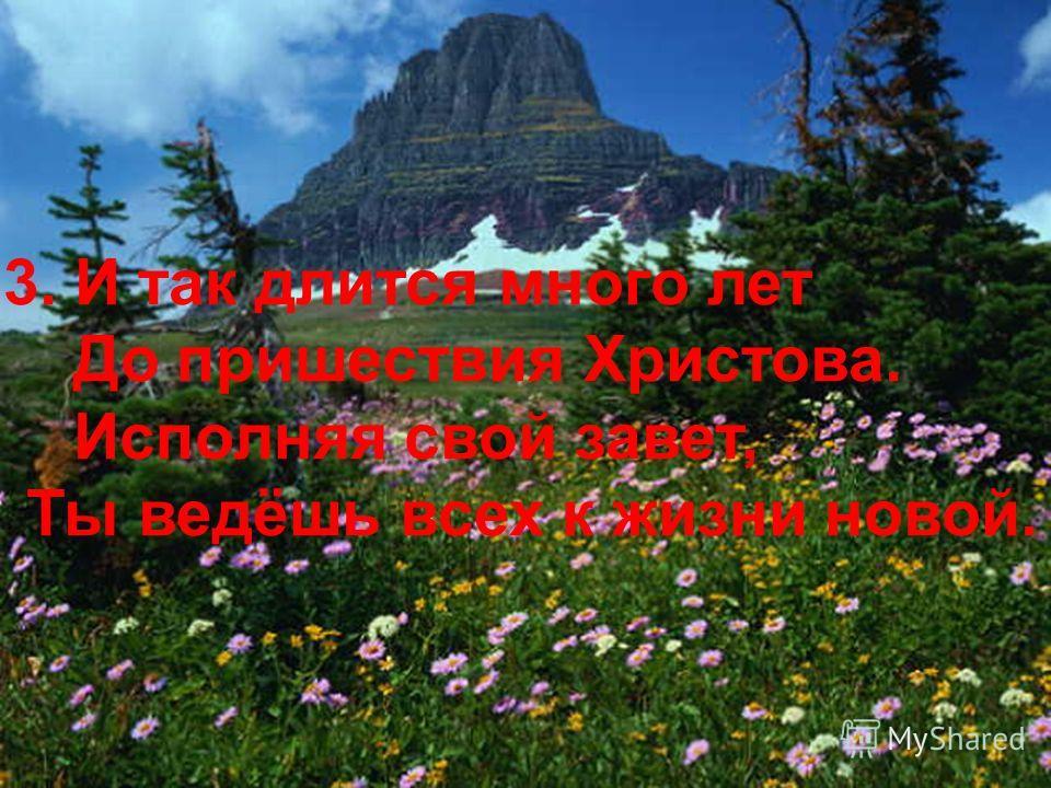 3. И так длится много лет До пришествия Христова. Исполняя свой завет, Ты ведёшь всех к жизни новой.
