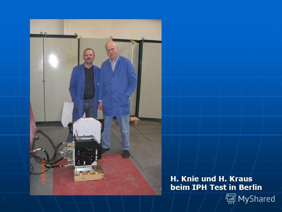 H. Knie und H. Kraus beim IPH Test in Berlin