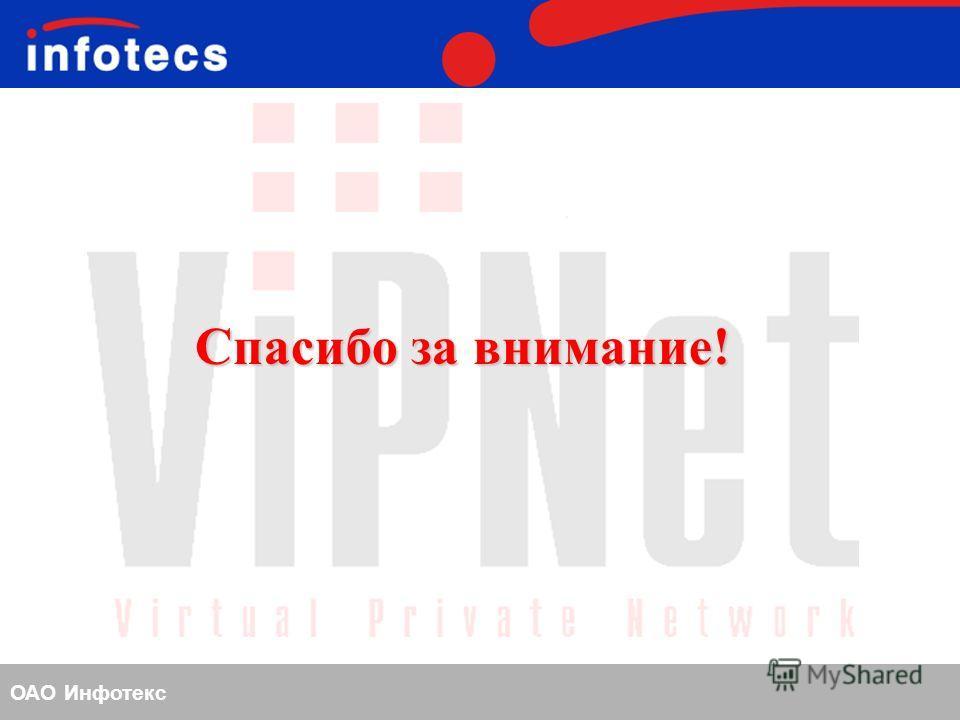ОАО Инфотекс Спасибо за внимание!