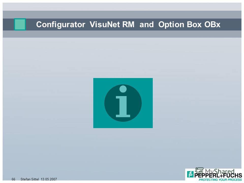 13.05.2007Stefan Sittel66 Configurator VisuNet RM and Option Box OBx