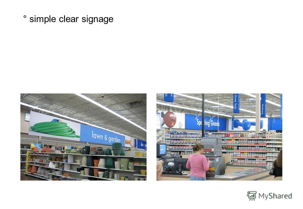 ° simple clear signage