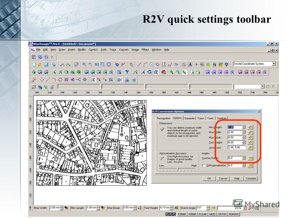 R2V quick settings toolbar