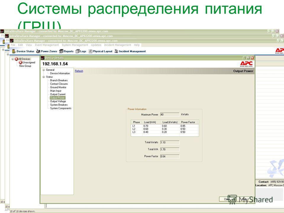 APC by Schneider Electric– Name – Date Системы распределения питания (ГРЩ)