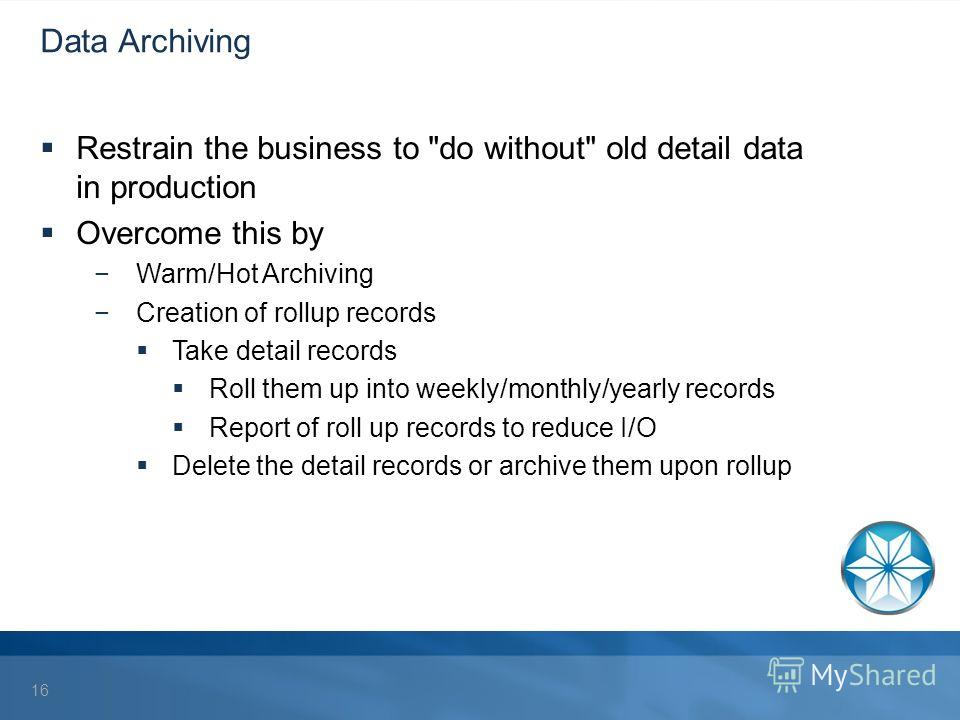 Data Archiving Restrain the business to