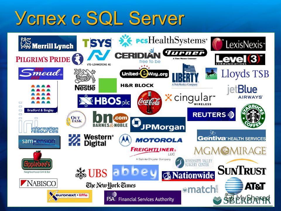 Успех с SQL Server