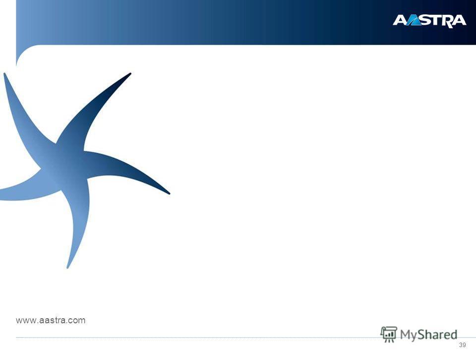 39 www.aastra.com