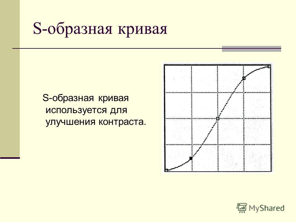 S-образная кривая S-образная кривая используется для улучшения контраста.