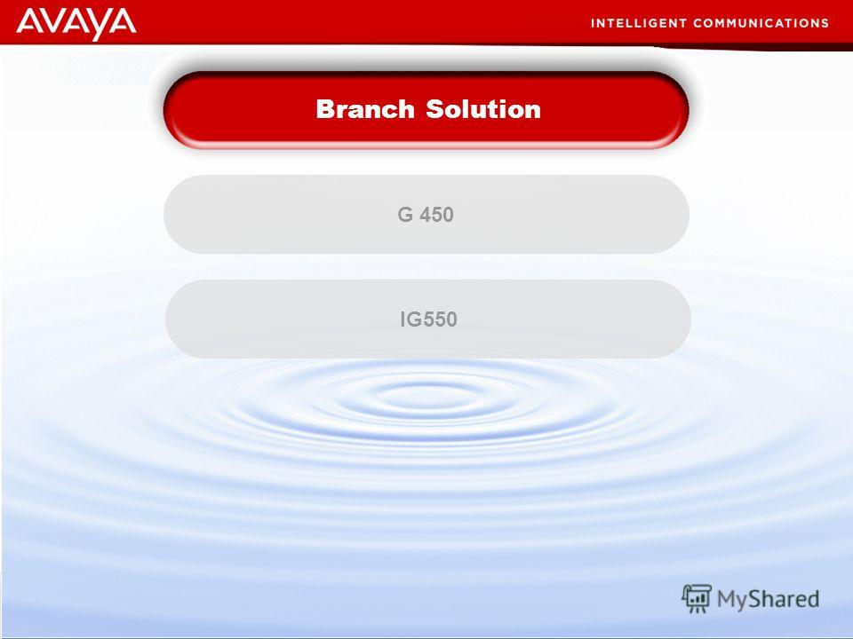 22 © 2007 Avaya Inc. All rights reserved. Business Imperatives G 450 Branch Solution IG550