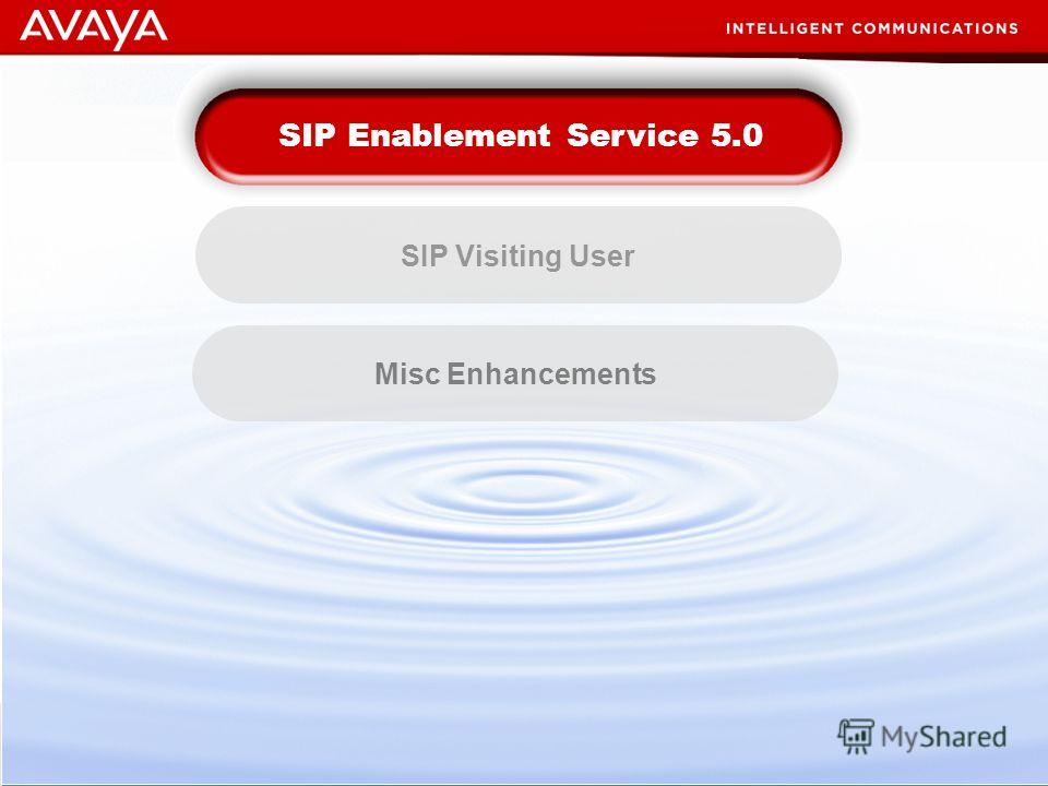 76 © 2007 Avaya Inc. All rights reserved. Business Imperatives Misc Enhancements SIP Enablement Service 5.0 SIP Visiting User