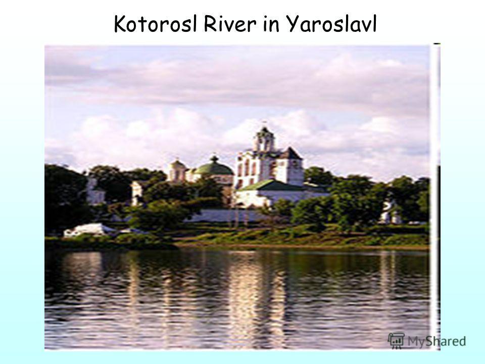 Kotorosl River in Yaroslavl